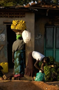 How far would you make it with this many bananas on your head? Photo from Uganda.
