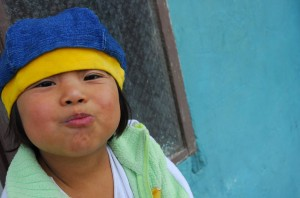 Silly faces at a Compassion center in Bolivia